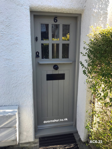arts and crafts style door and frame