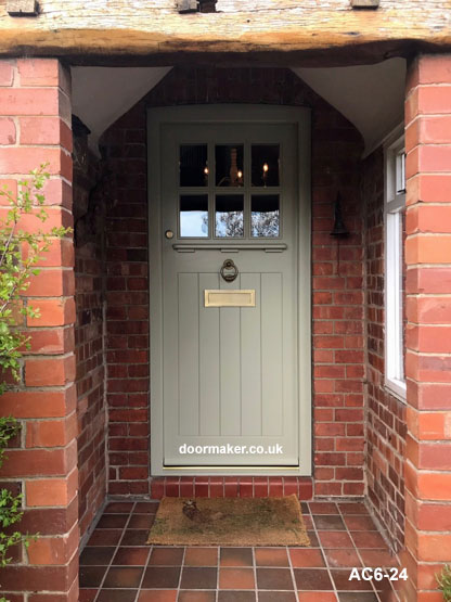arts and crafts style door and frame bespoke doors