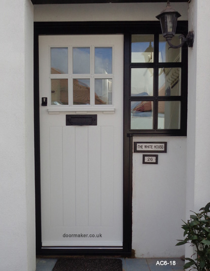 arts and crafts white door black frame