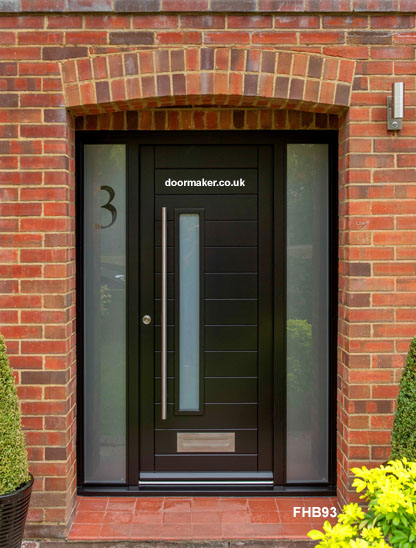 black contemporary door and frame