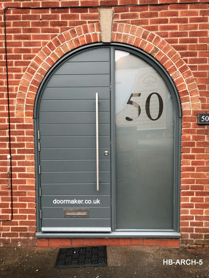 contemporary arched door and frame