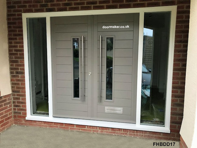 contemporary double doors and frame bespoke doors