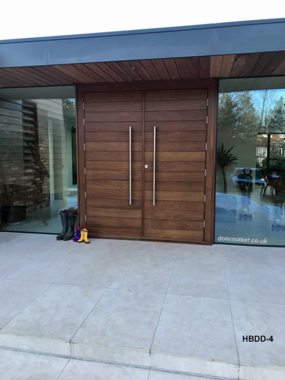 contemporary double doors and frame