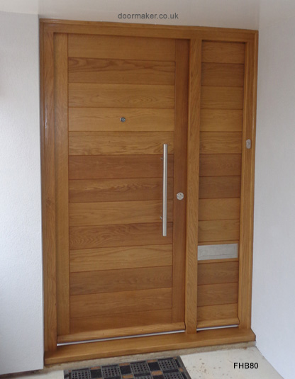 oak contemporary door and side panel