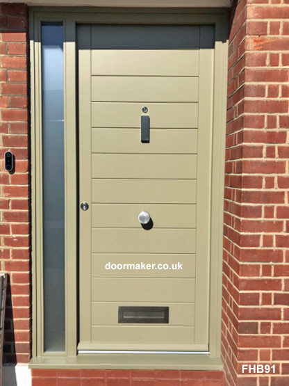 contemporary door and frame - RAL colour