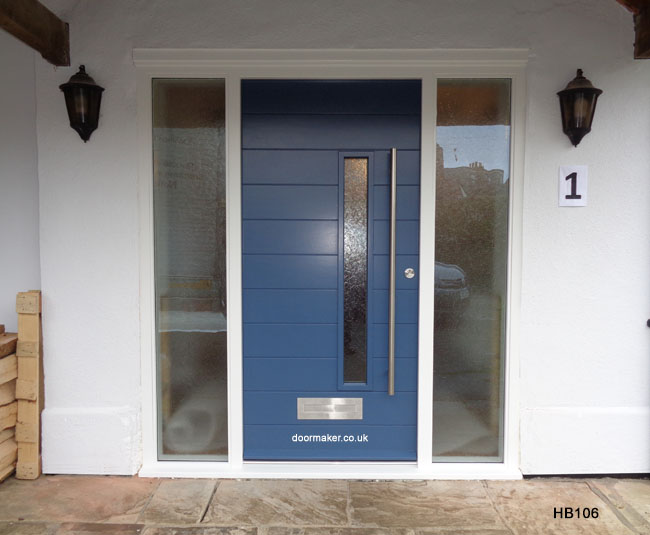 contemporary door and sidelights stiffkey