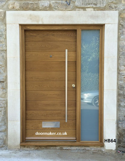 contemporary oak door and sidelight