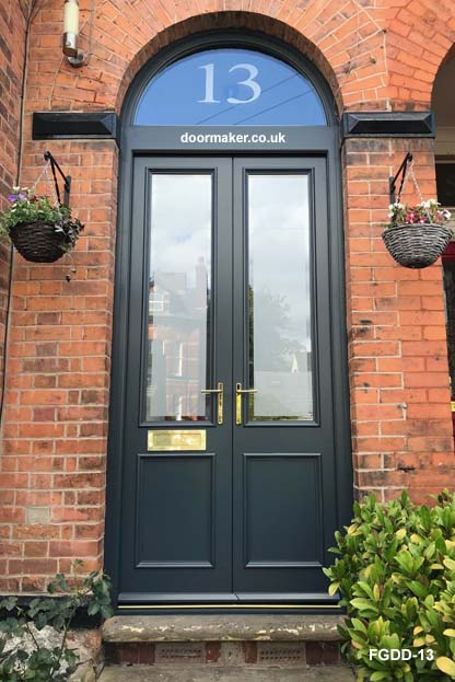 traditional double doors and frame