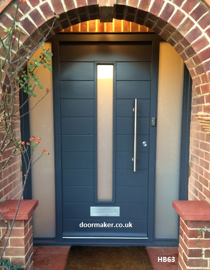 contemporary door and sidelights