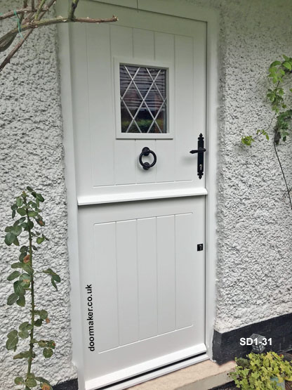 white stable door and frame