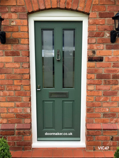 traditional victorian style door and frame