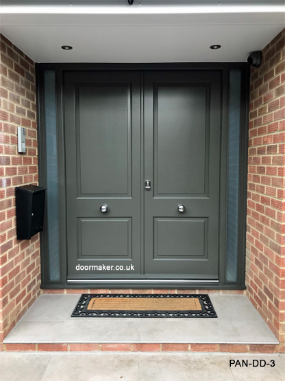 panelled double doors and frame